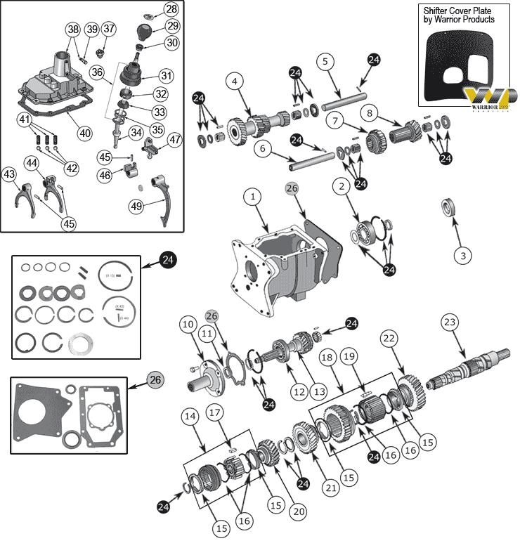 Transmission Transfer Case Variants Types Cjs 53 86 A 134